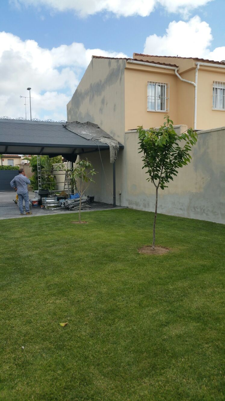 Restauración de fachada vivienda en Jerez